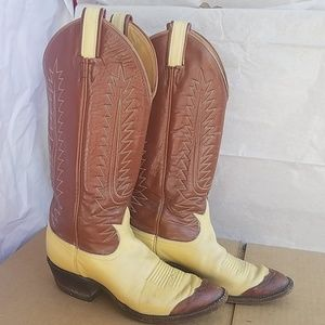 Tony Lama western leather cowboy boots 6c